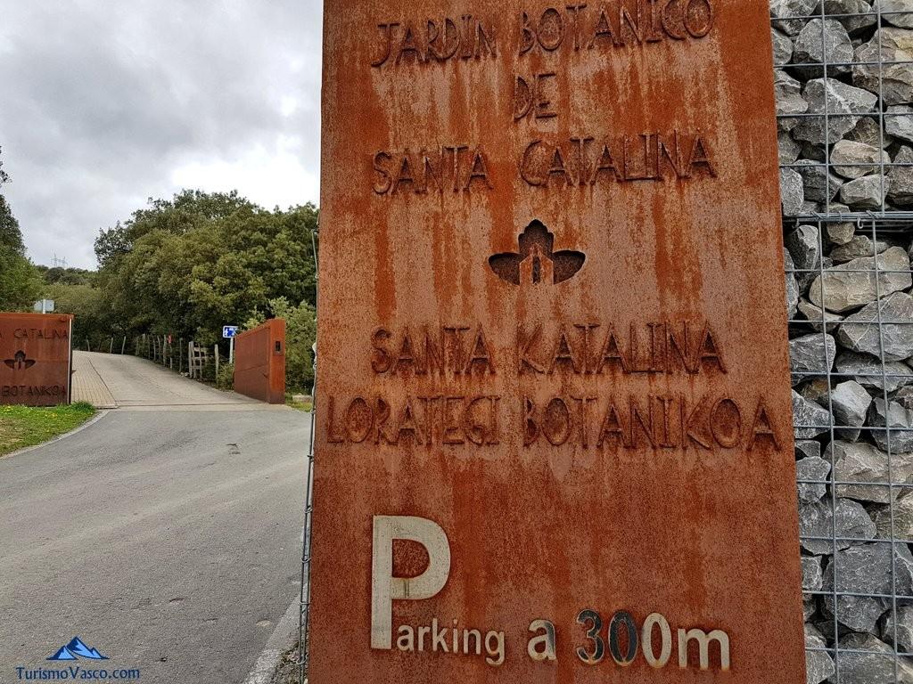 Entrada al Jardín Botánico de Santa Catalina