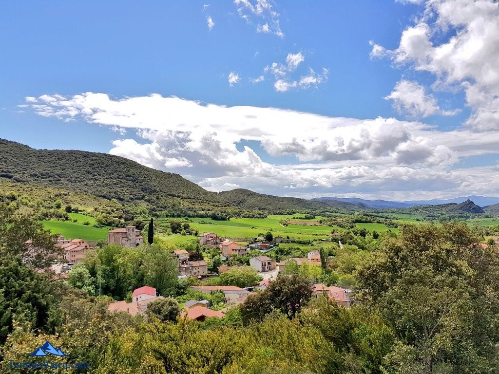 Berganzo desde las alturas, la ruta del agua de Berganzo