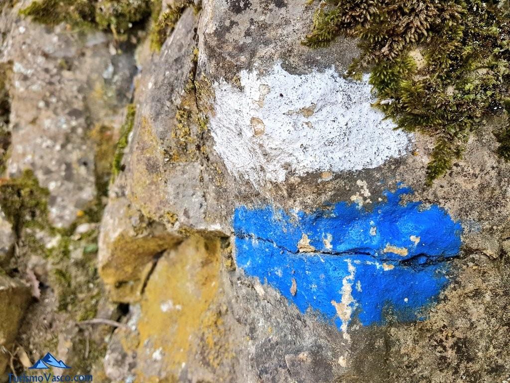 Marca durante la ruta del agua