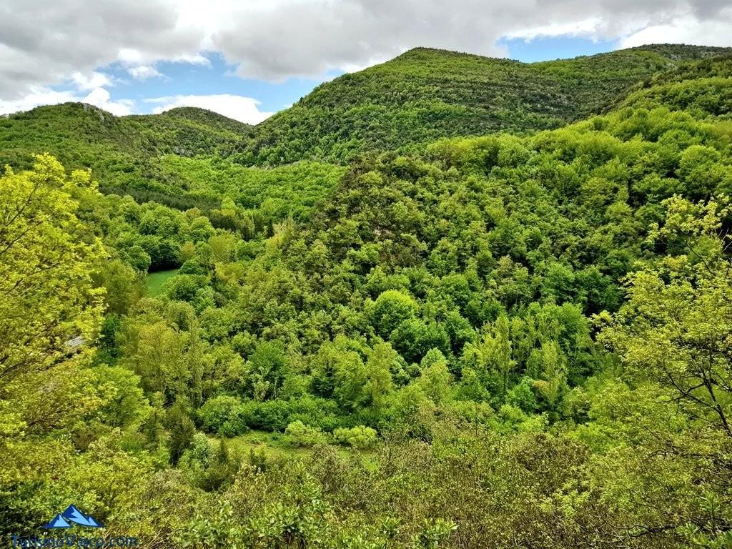 Vistas desde la ruta del agua de Berganzo