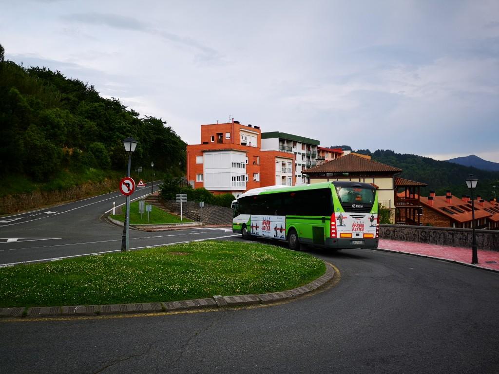 Autobus para la ruta de Ogoño