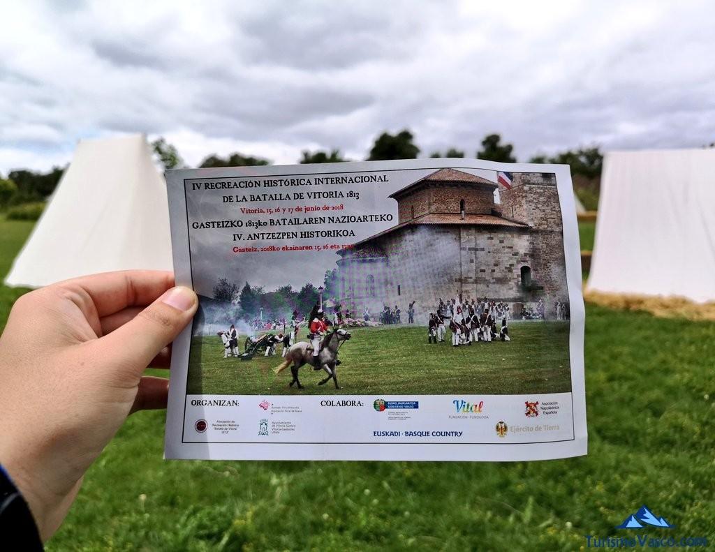 Cartel de la recreacion de la batalla de Vitoria