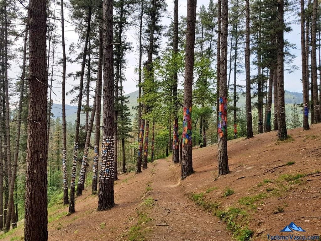 De vuelta del bosque de oma, el bosque pintado