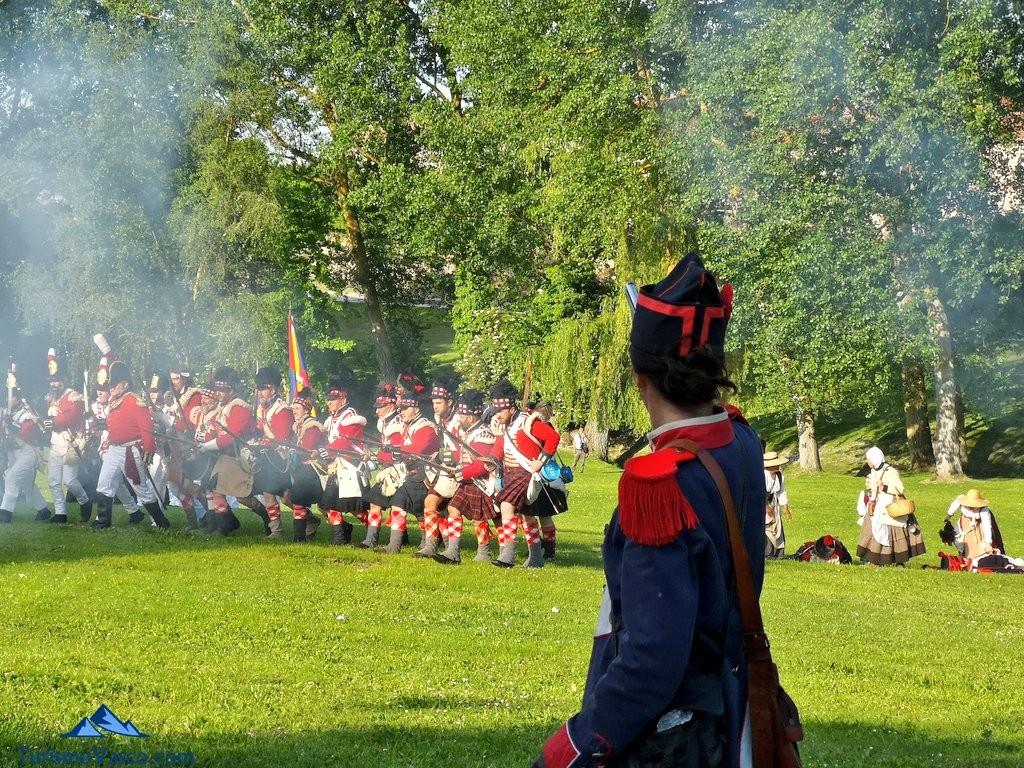 Las tropas napoleonicas pierden en la Batalla de Vitoria
