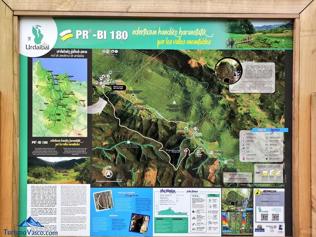 PR-BI-180 ruta del Bosque de Oma, el Bosque Pintado