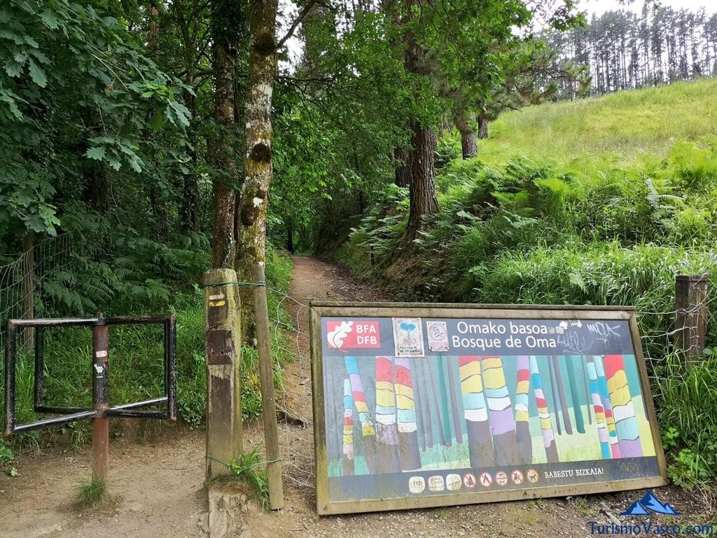 Salida del Bosque de Oma, el Bosque Pintado en Oma
