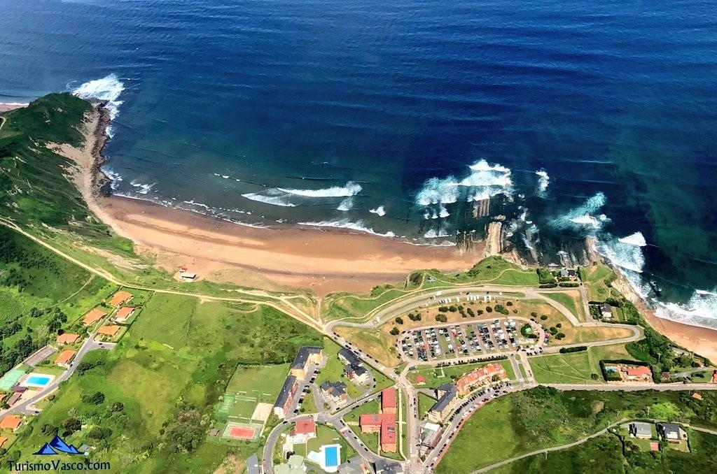 Sopela desde el aire, playas de sopela
