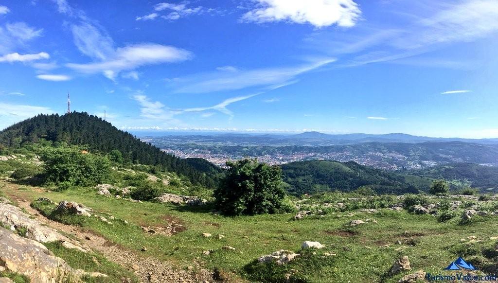 Vistas desde el pagasarri de Bilbao