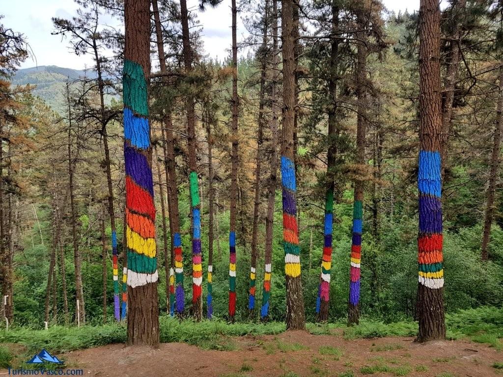 arcoiri en el bosque pintado de oma