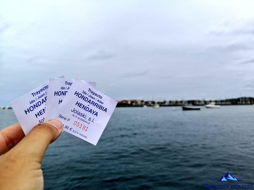 Tickets barco hondarribia hendaia, jolaski