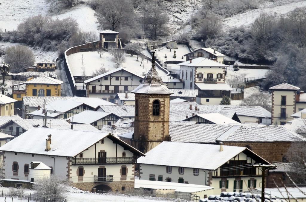 Valle de Baztan nevado