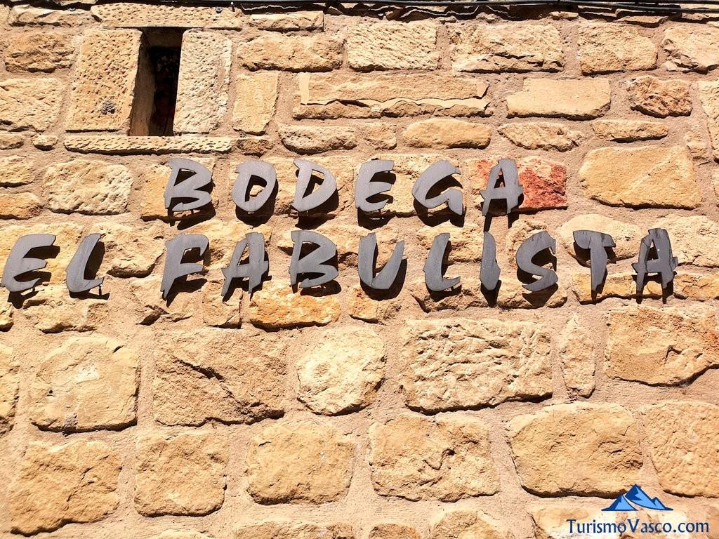 Cartel de la Bodega el fabulista, laguardia