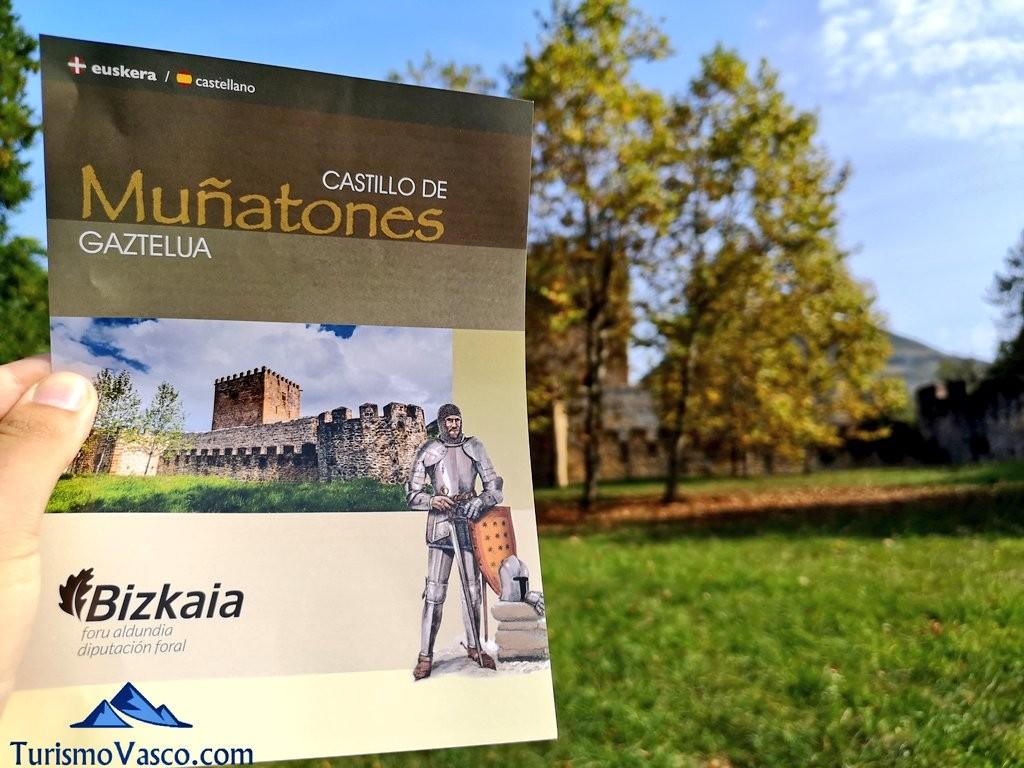 Folleto informativo del Castillo de Muñatones
