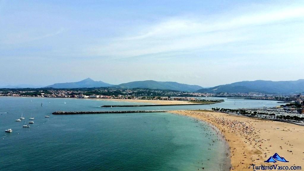 Playa de Hendaia y Hondarribia
