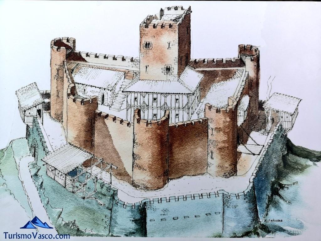 Aspecto original del castillo de amaiur