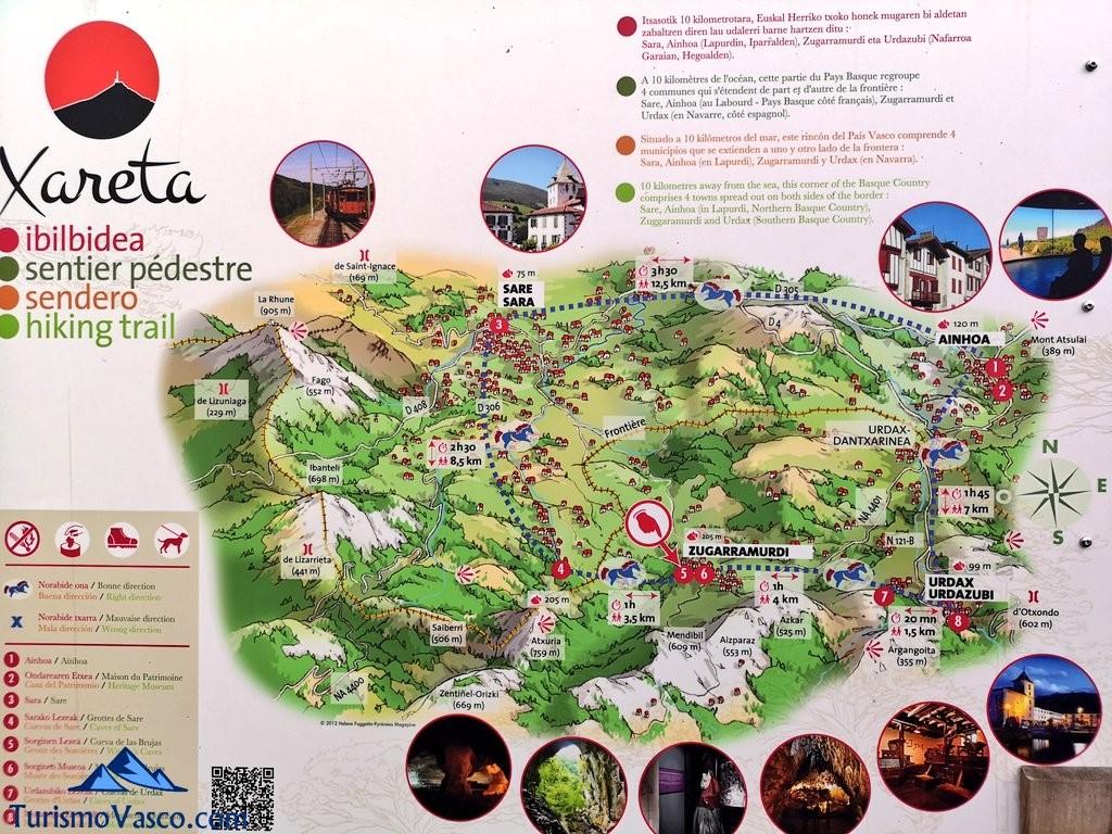 Mapa de Xareta, zugarramurdi