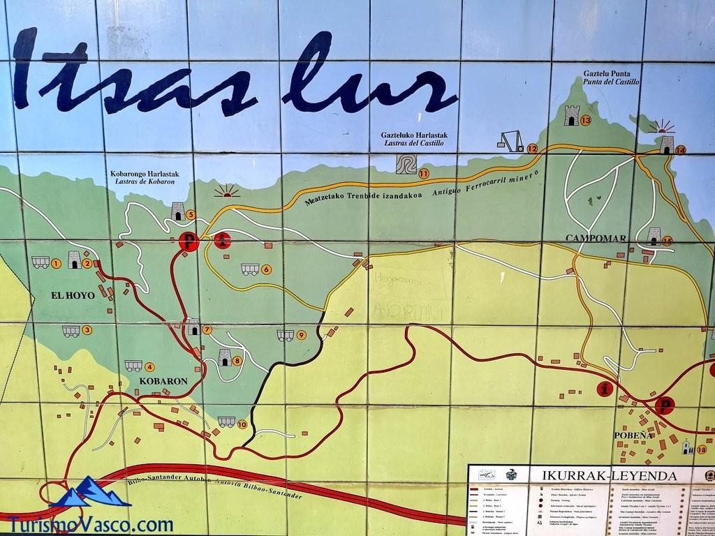 cartel Paseo de Itsaslur, ruta Pobeña Kobaron