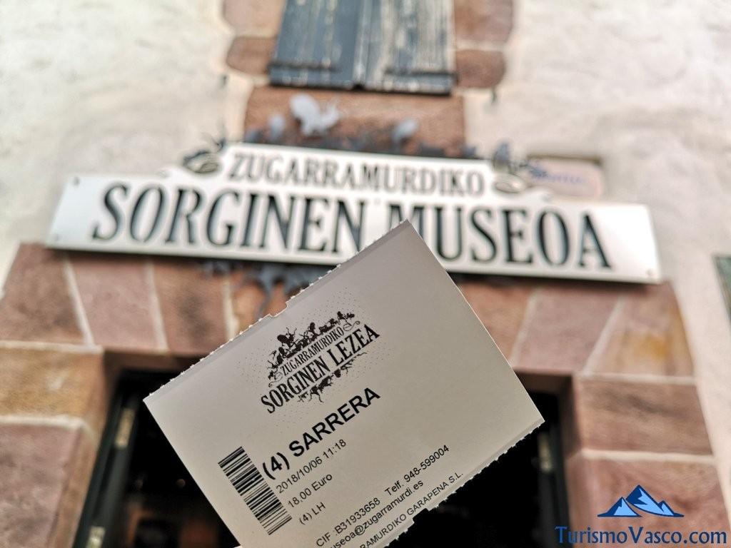 entrada, museo de las brujas de Zugarramurdi
