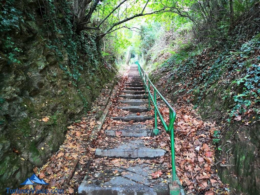 escaleras del Paseo de Itsaslur, ruta Pobeña Kobaron