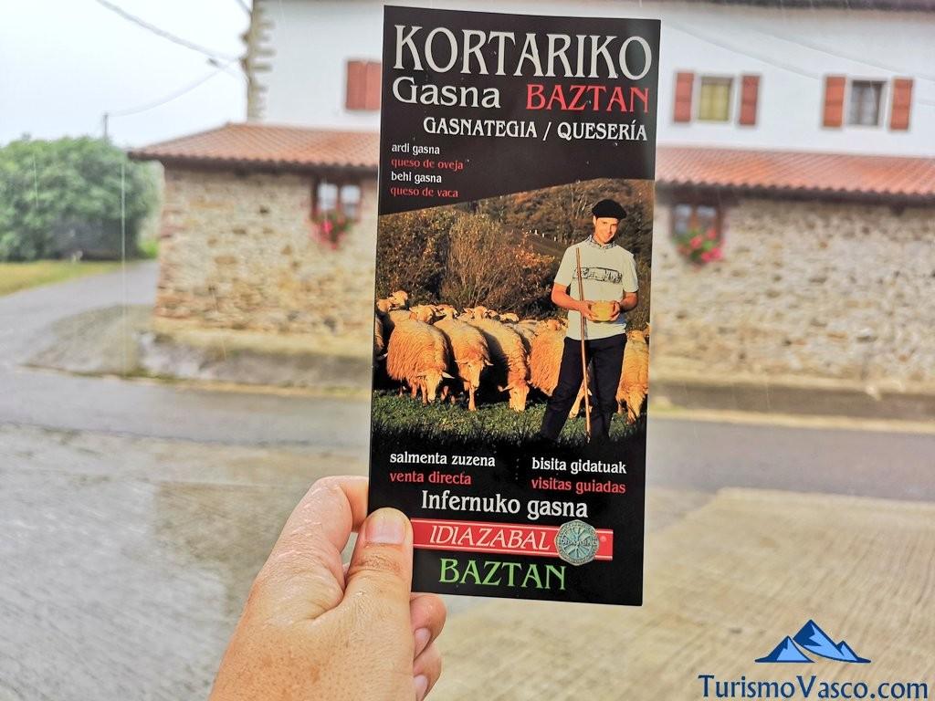 folleto, Kortariko gasna, queseria, infernuko gasna