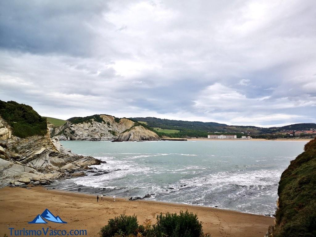 playa muriola entre acantilados, barrika