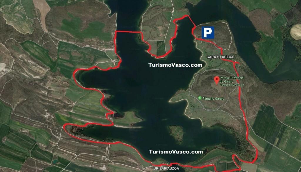 Mapa ruta embalse de Ullibarri Gamboa