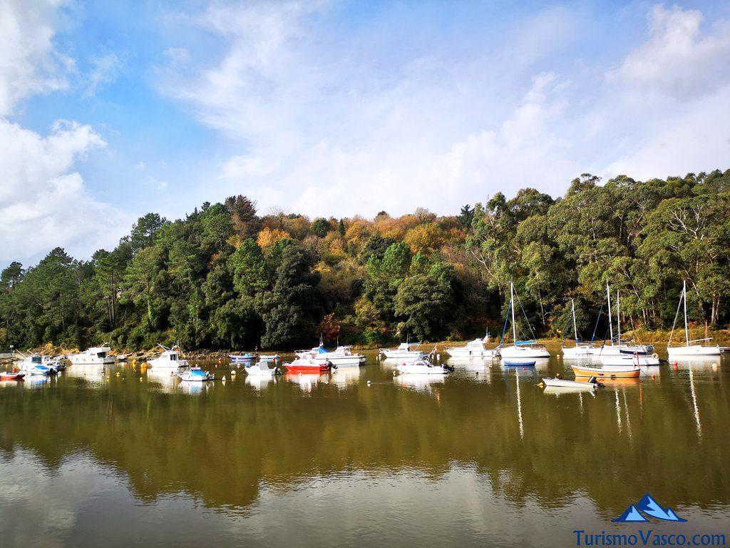 barcos, ruta Plentzia Gorliz