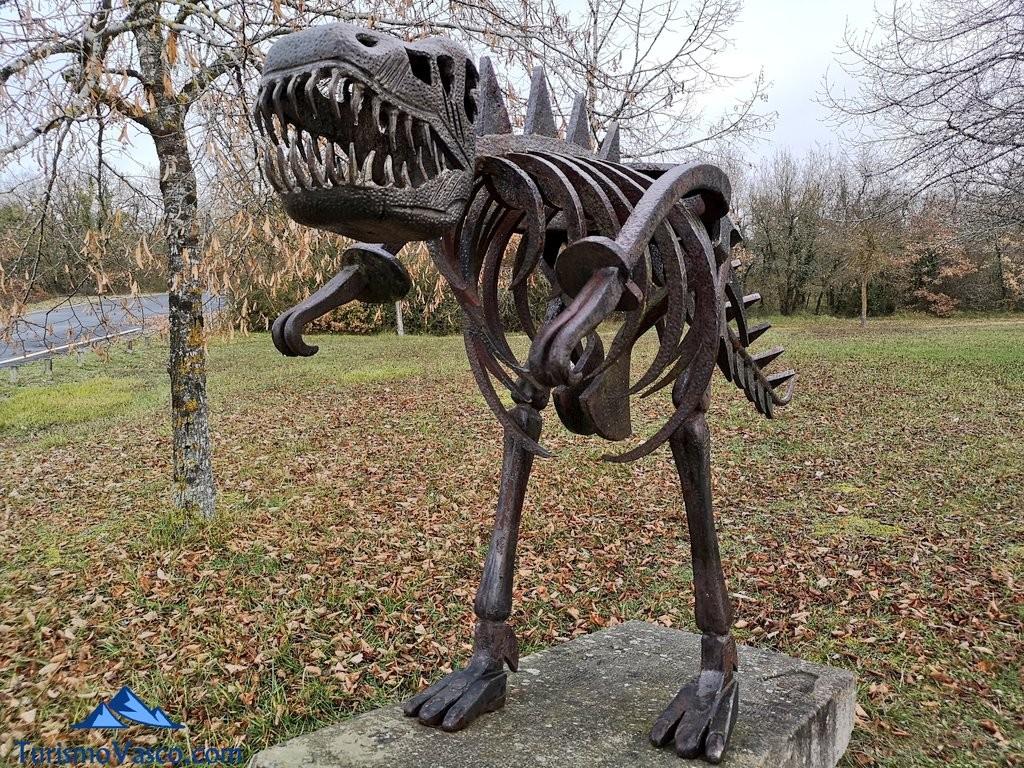 dinosaurio, Ruta embalse Ullibarri Gamboa