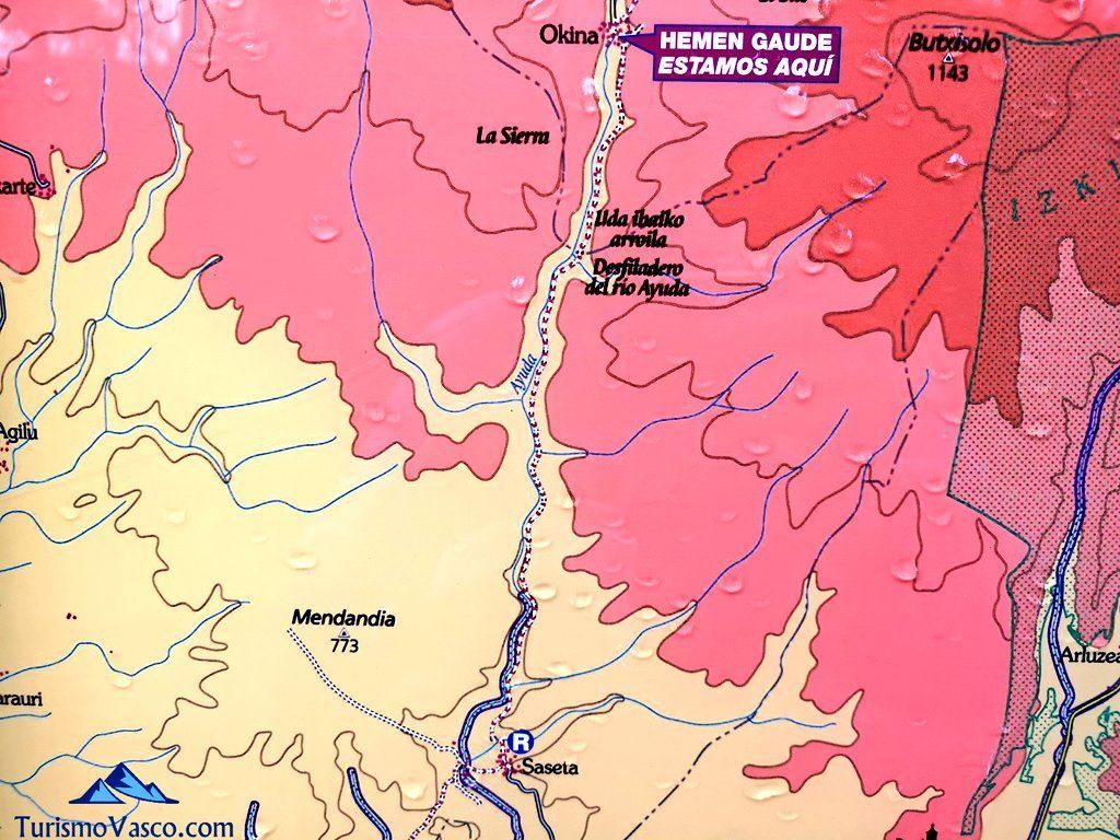mapa, Ruta Okina Saseta