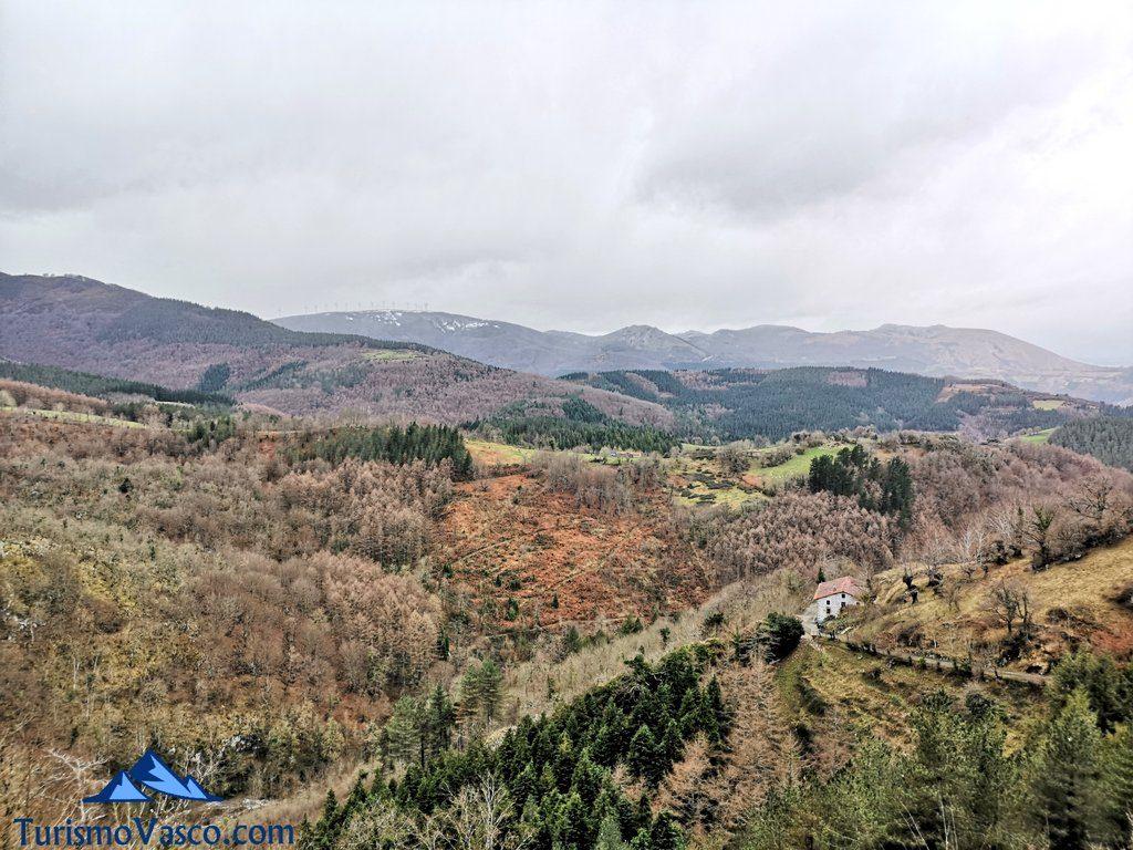 vistas, Santuario de Arantzazu