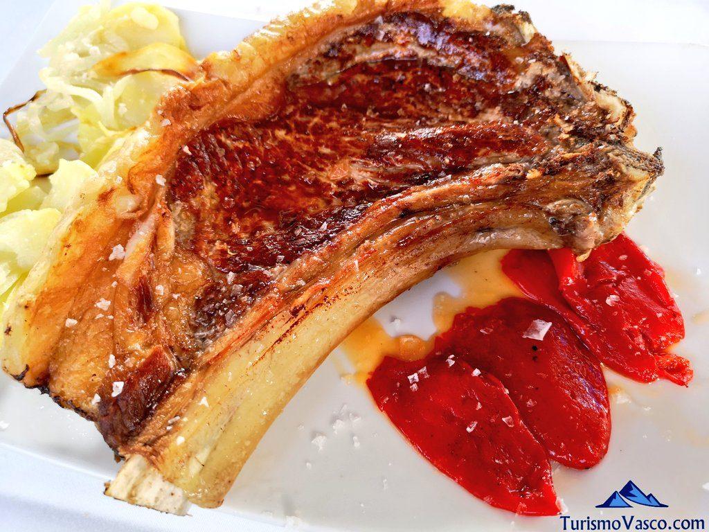chuleta, restaurante iruso leitza