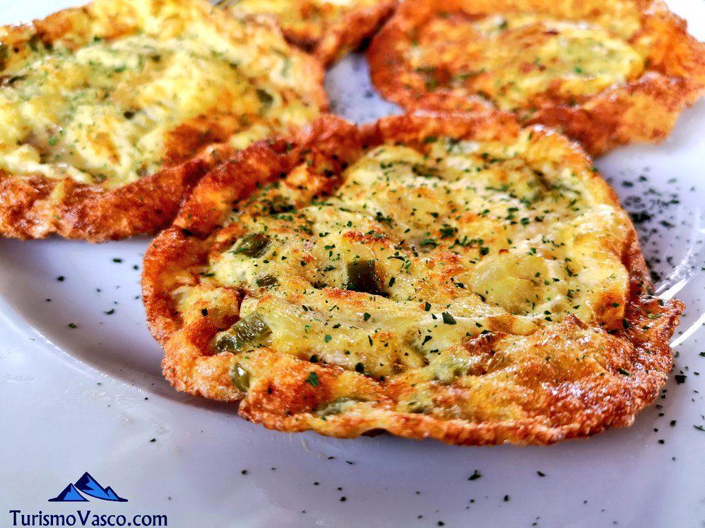 tortilla de bacalao, restaurante iruso leitza