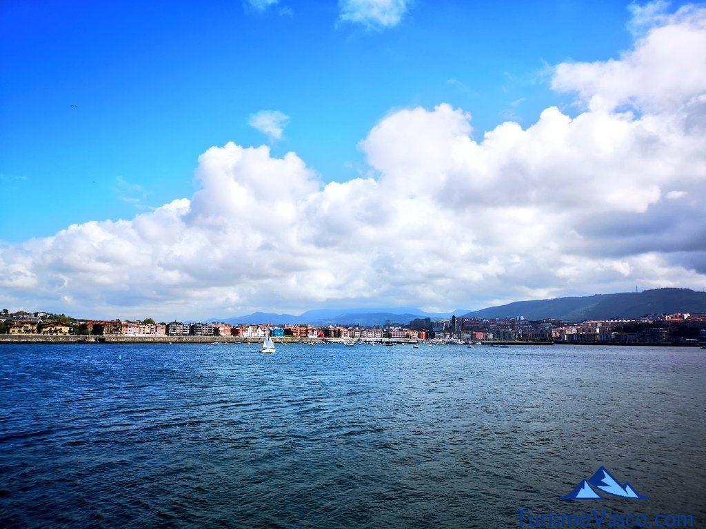 costa de areeta, Getxo, ruta en velero en Getxo
