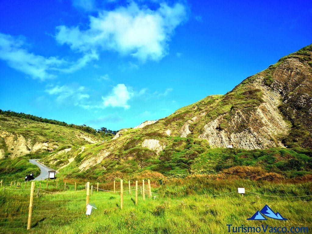playa de Azkorri, ruta geologica por el flysch de Getxo