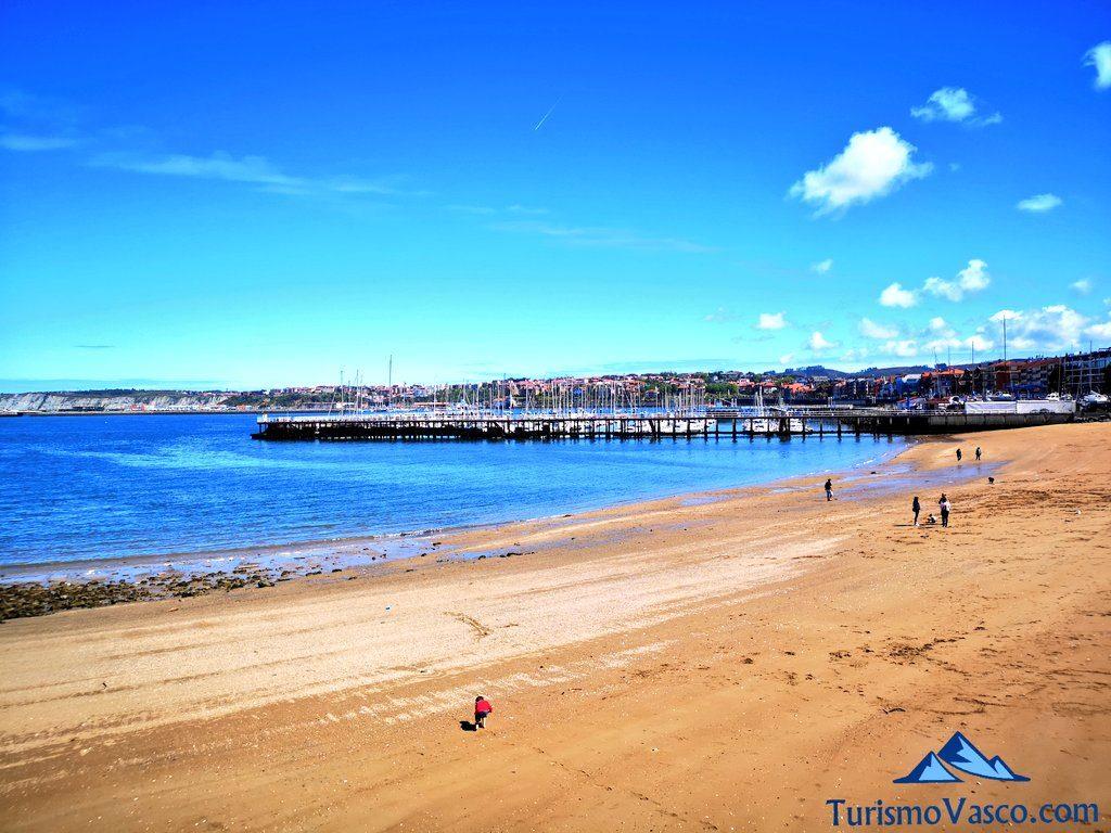 playa de areeta, Paseo de las Grandes Villas de Getxo