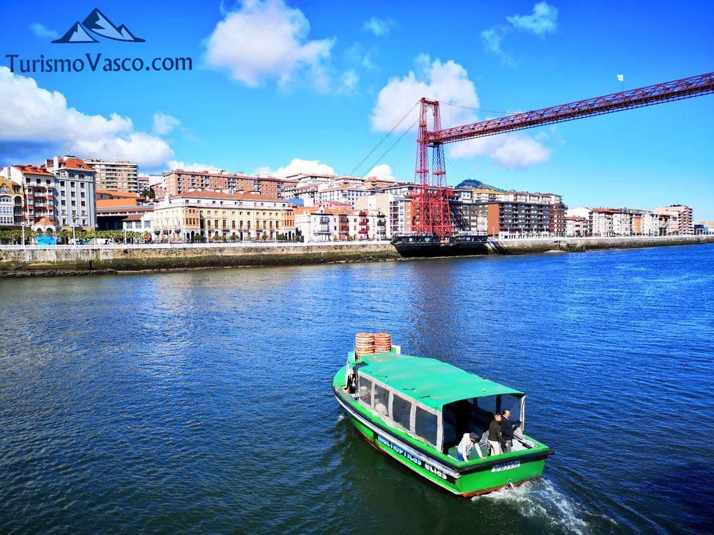 puente colgante y motora, Getxo Portugalete