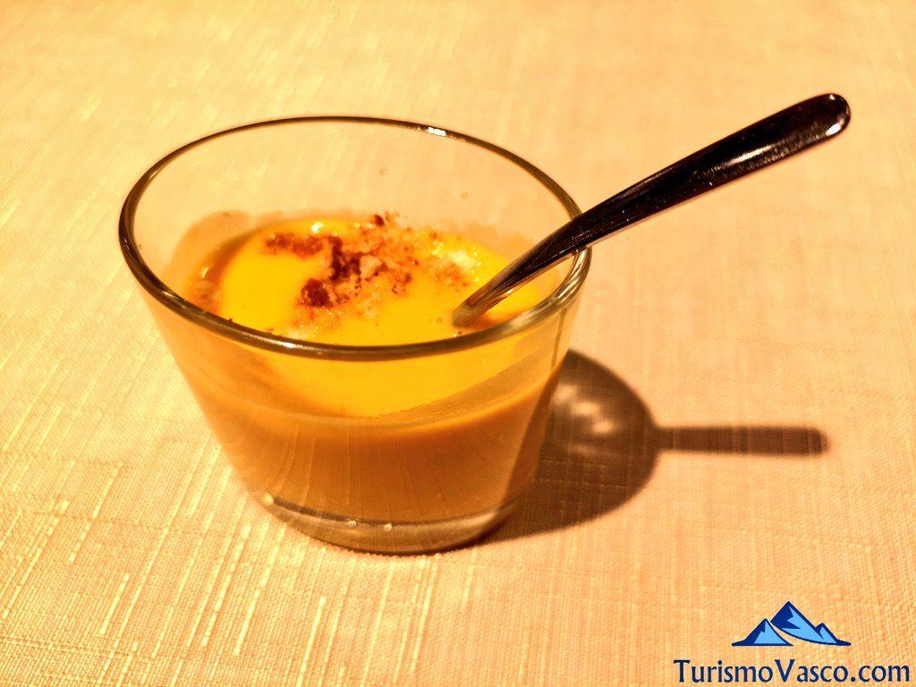 pure de calabaza, restaurante arrokaberri hondarribia
