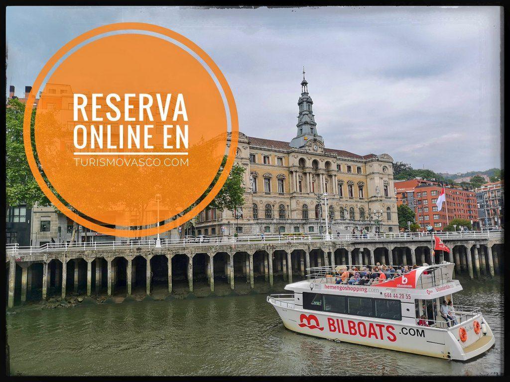 Reserva online ruta en barco en Bilbao