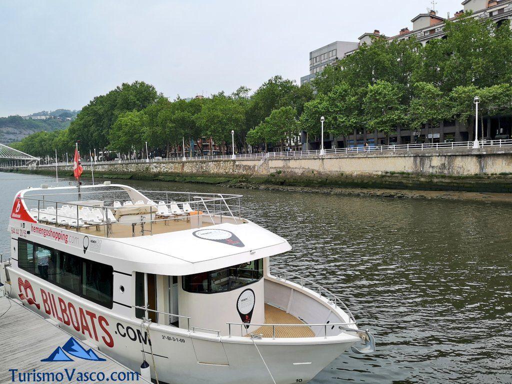 bilboats rutas en barco bilbao, amarre