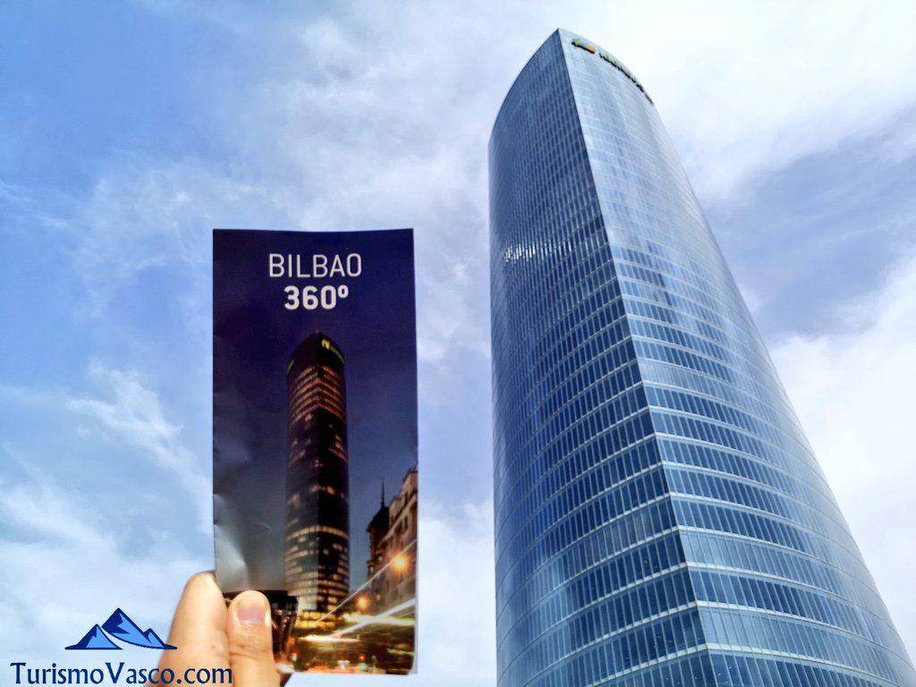 folleto, Mirador Torre Iberdrola, las mejores vistas de Bilbao