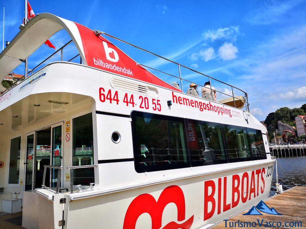 Barco Bilboats amarre, Barcos en Bilbao