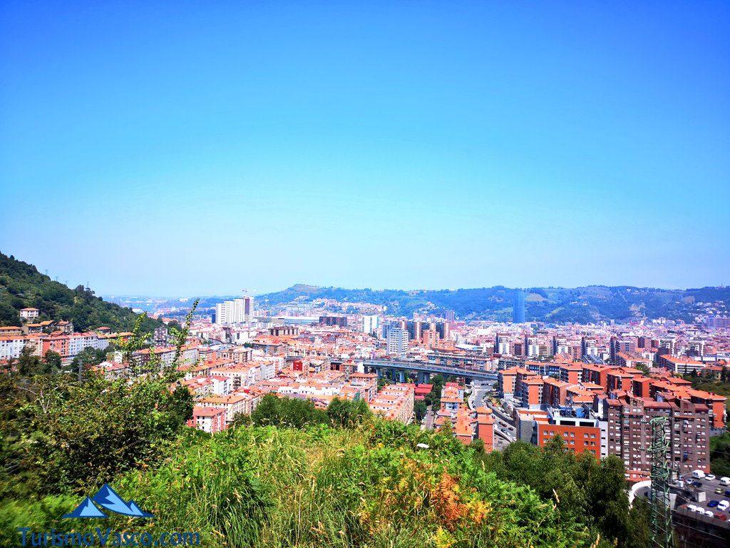 vistas desde la playa verde de Bilbao, Iturrigorri, Miradores de Bilbao