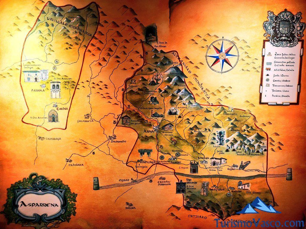 mapa asparrena, Nacedero del río Zirauntza