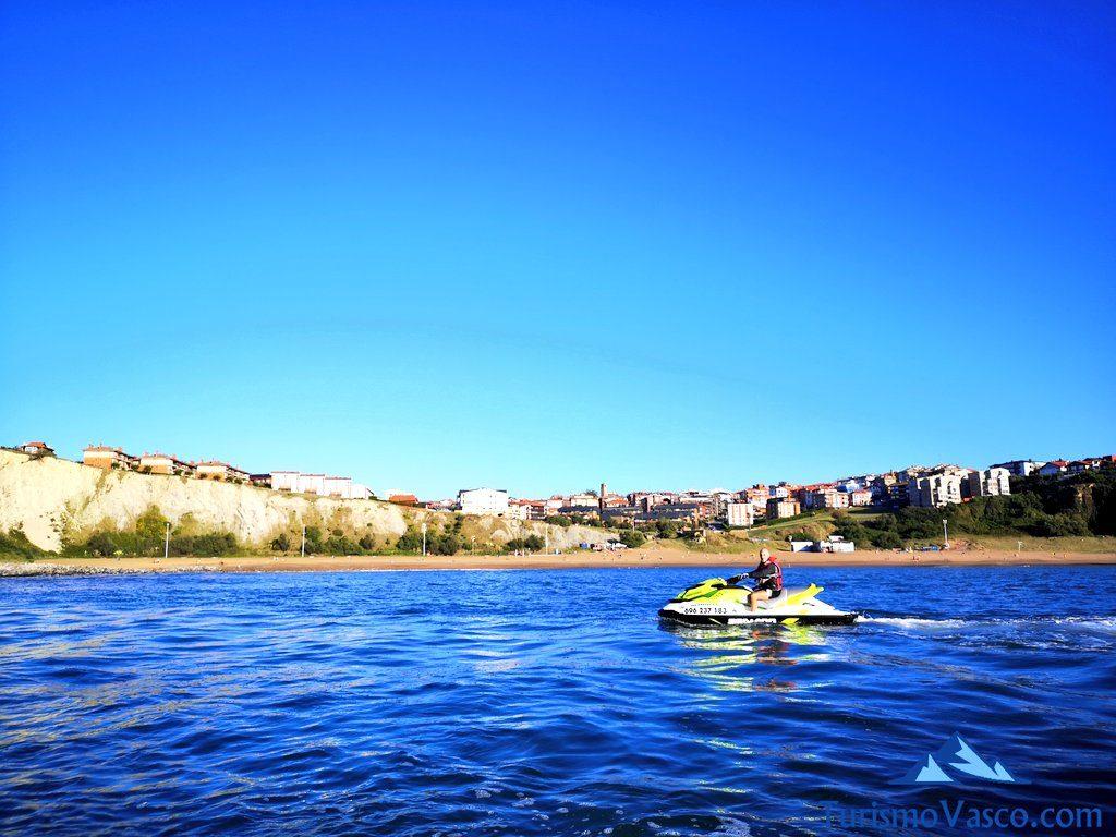 ruta, alquiler de motos de agua en Bilbao