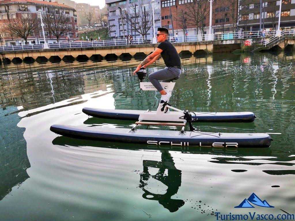 bicicleta de agua, bicicletas acuaticas en bilbao