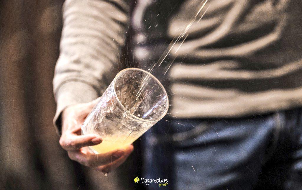vaso, sagardobus, sidreria vasca
