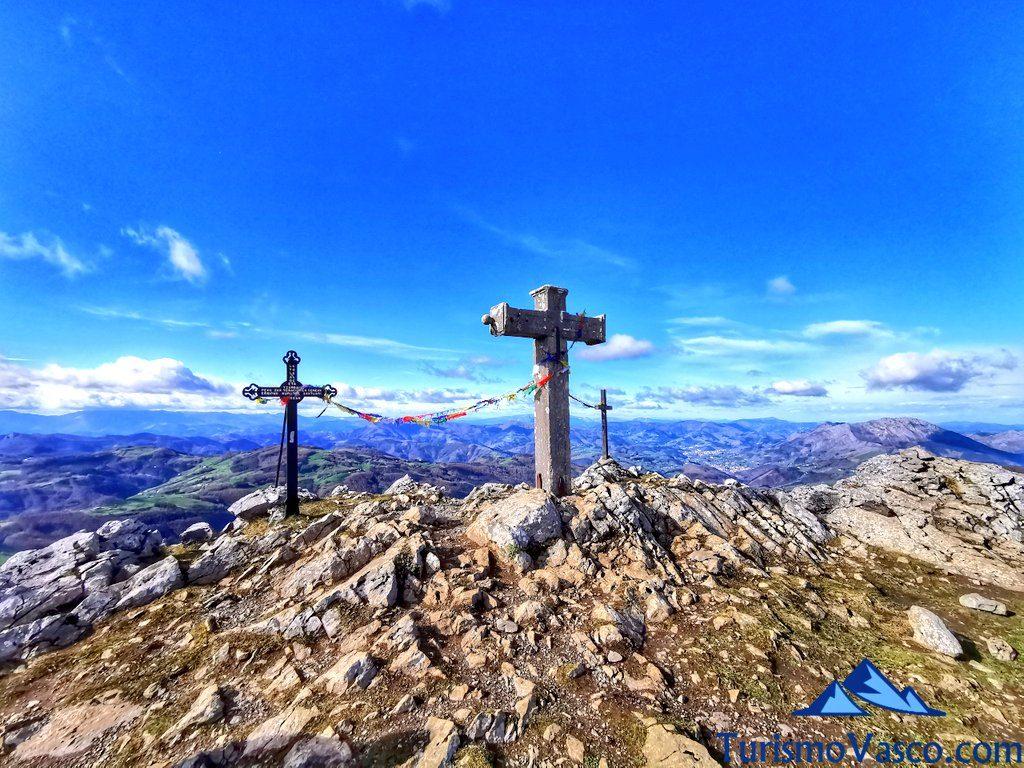 cruces de Hernio, cumbre, cima, Hernio desde Iturriotz