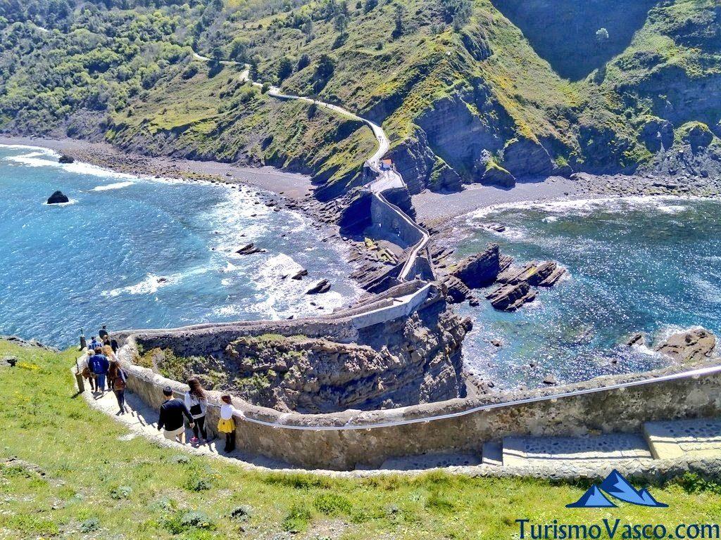 ruta escaleras camino, San Juan de Gaztelugatxe