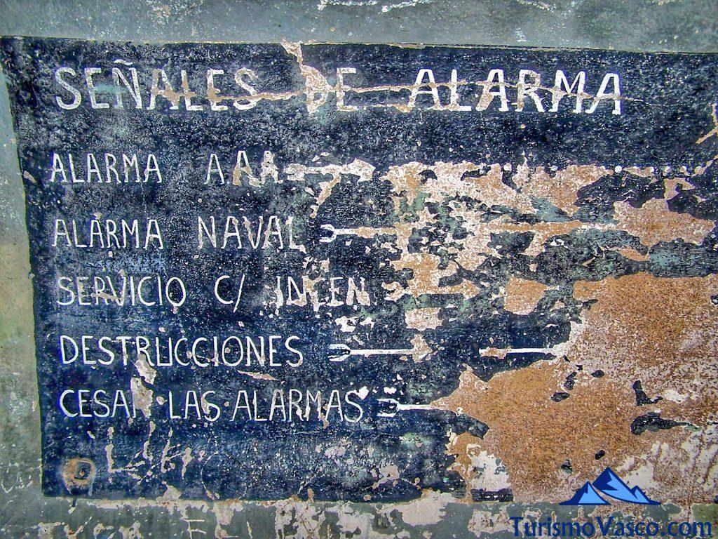 señales de alarma del Faro de Gorliz