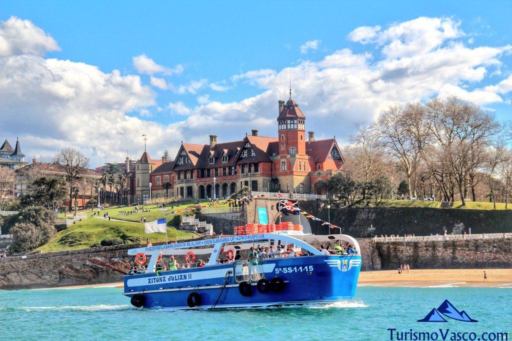 barco palacio miramar, rutas en barco en Donostia San Sebastian